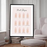 fashion nail shapes wall art canvas painting beauty salon posters manicure pedicure makeup nail prints pictures home decoration