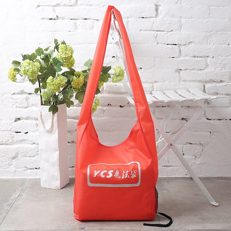 Saco favorável ao meio ambiente leveza feminina sacos de compras sacos de ombro para super-mercado