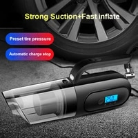 car vacuum cleaner four in one handheld dual use car and home with air pump tire pressure monitoring lighting
