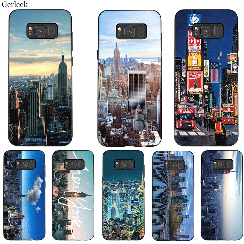 Funda de teléfono móvil para Samsung M10 M20 M30 M40 S7 S6 Edge S9 S8 S10 S10E Plus Note 8 9 10 paisaje bonito de la ciudad de Nueva YORK