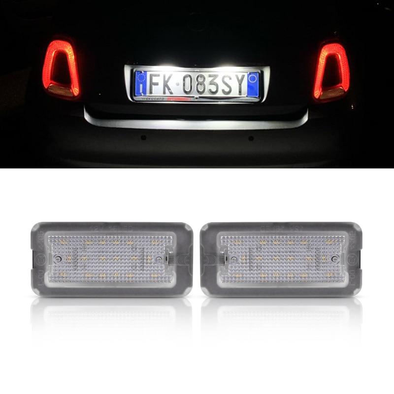 2x LED luz de placa de matrícula para FIAT 500 / C...