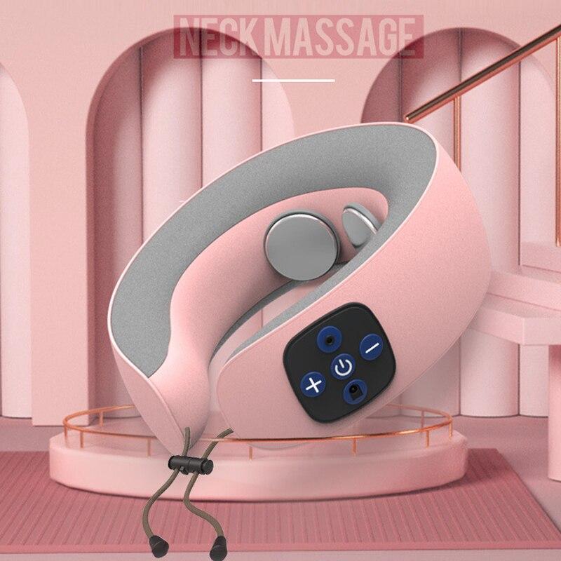 BeeGM elektryczny masażer szyi w kształcie litery U poduszka przenośne ramię ogrzewanie masażer szyjki macicy samochód relaksujący do masażu opieki zdrowotnej