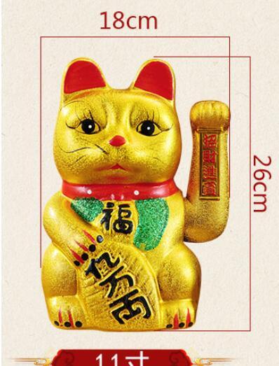 Zodiaque artisanat articles en céramique or gros chat en céramique japonais tirelire richesse animale chanceux tirelire bstatue maison mariage