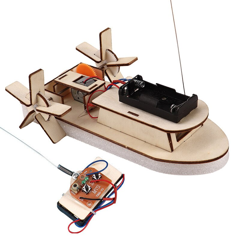 Kids DIY Wireless RC Model Scientific Experiment Kit Educational STEM Toys