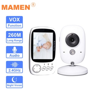 Baby Monitor Camera Set 3.2 inch Wireless Video Color High Resolution Baby Nanny Security Night Vision Temperature Monitoring