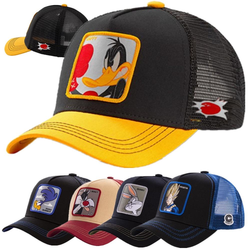 Gran oferta 2020 gorra de camionero de dibujos animados de Anime de alta calidad parche diseño de gorra de béisbol 58 estilos Gorras Dropshipping