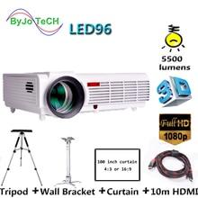 Poner Saund LED 96 HD projecteur LED 5500 lumens 3D proyector home cinéma avec 10m HDMI et support mural trépied Vs bt96