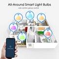 Умная лампа B22 E27 с Wi-Fi, 15 Вт, светодиодная лампа RGB, работает с Alexa/Google Home, 85-265 в, RGB + белый, с регулируемой яркостью, функция таймера, волшебная лампа