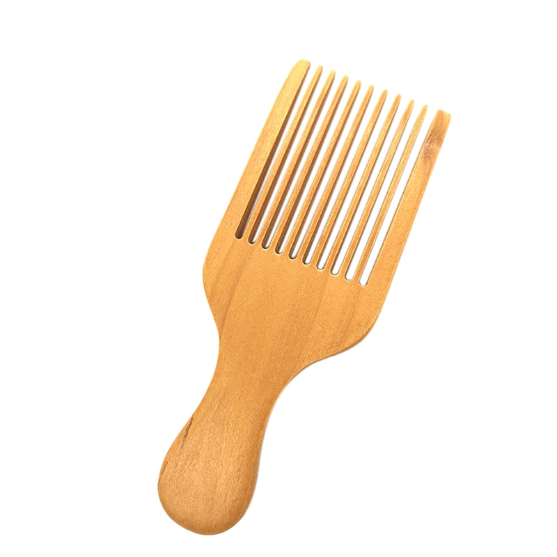 natural shen guibao wood buffalo horn exquisite thick long handle wooden comb coarse teeth hair massage no static combs Massage Comb Wood Comb Hair Pick Hair Combs Combs Combs Combs Combs-Non-Static Natural Wooden Hair Combs