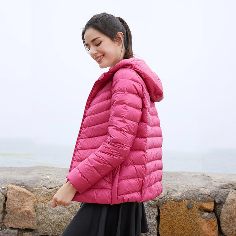 Chaqueta de plumas, ropa de mujer 2020, liquidación, frívola, moda informal, abrigo de marea holgada con capucha