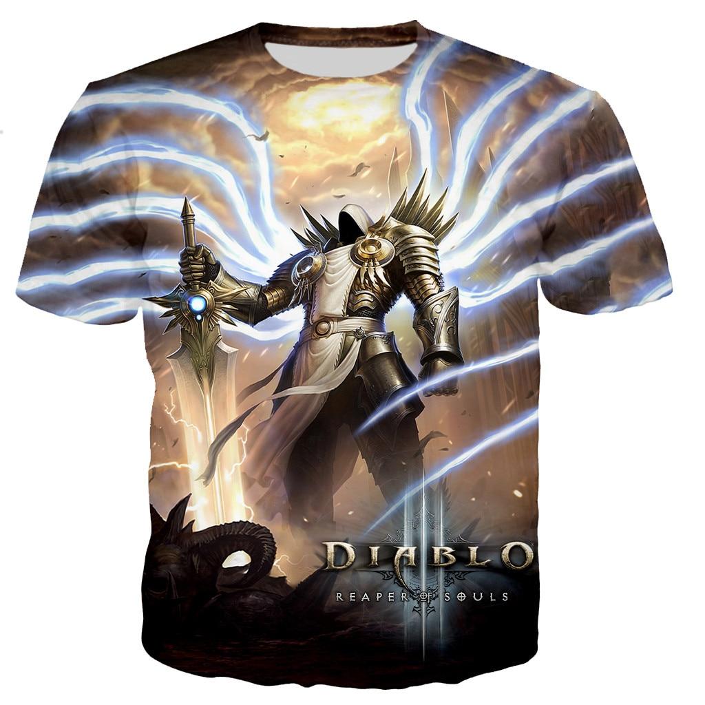 Diablo 3 Reaper of Soul Printed Game 3D T-shirt 2021 Men Women Summer New Fashion Casual Harajuku Plus Size Streetwear Tees Tops