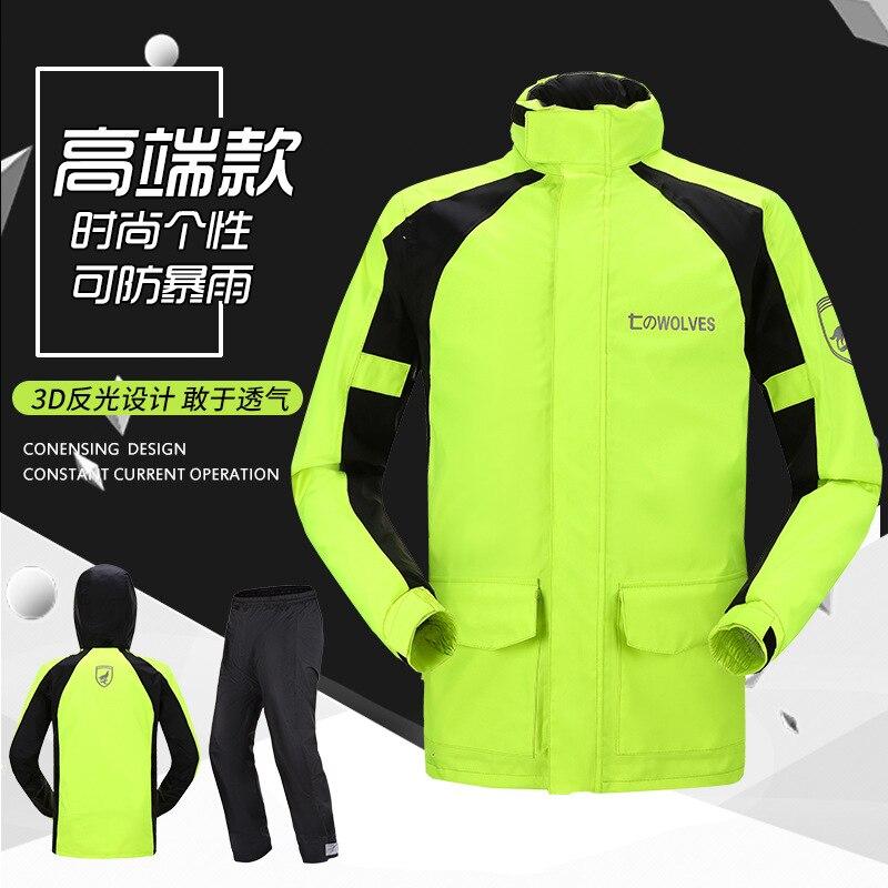Motorcycle Hiking Travel Adult Pants Raincoat Jacket Fishing Hooded Waterproof Rain Coat Fashion Impermeables Rain Suit BW50YY enlarge