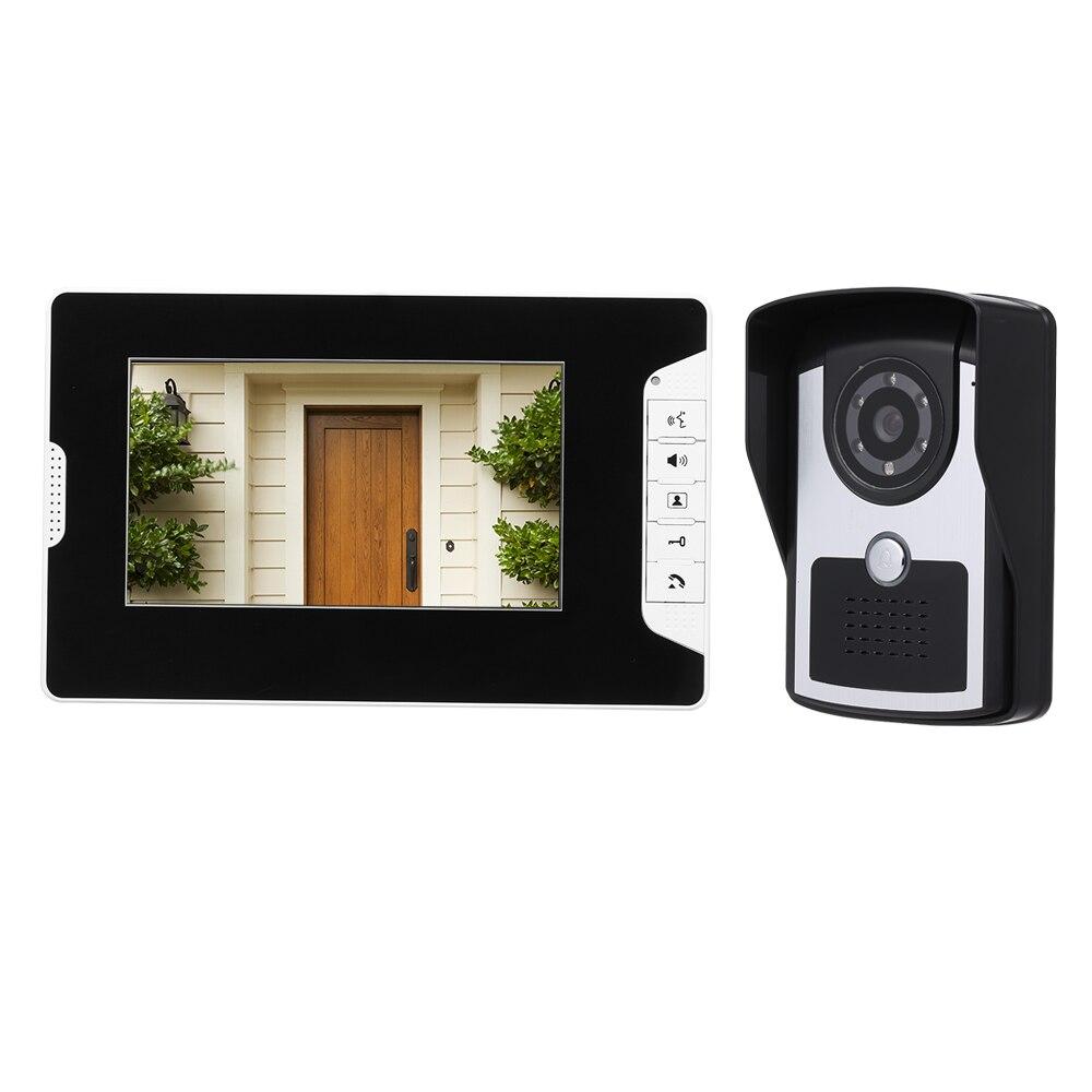 7 pulgadas Monitor HD cámara Video intercomunicador mirilla timbre SISTEMA DE intercomunicador IR visión nocturna con cable timbre Cámara seguridad