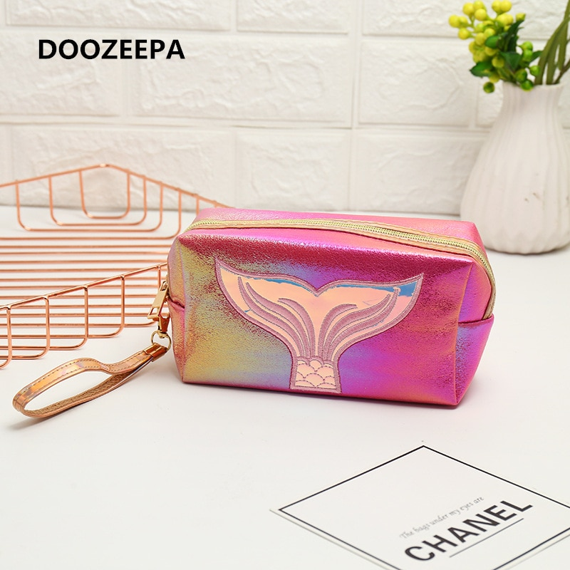 Girl Makeup Bag Colorful Mermaid Tail Cosmetic Bag Organizer Make Up Case Beauty Pouch Lipstick Bag PU Beautician Toiletry Bags