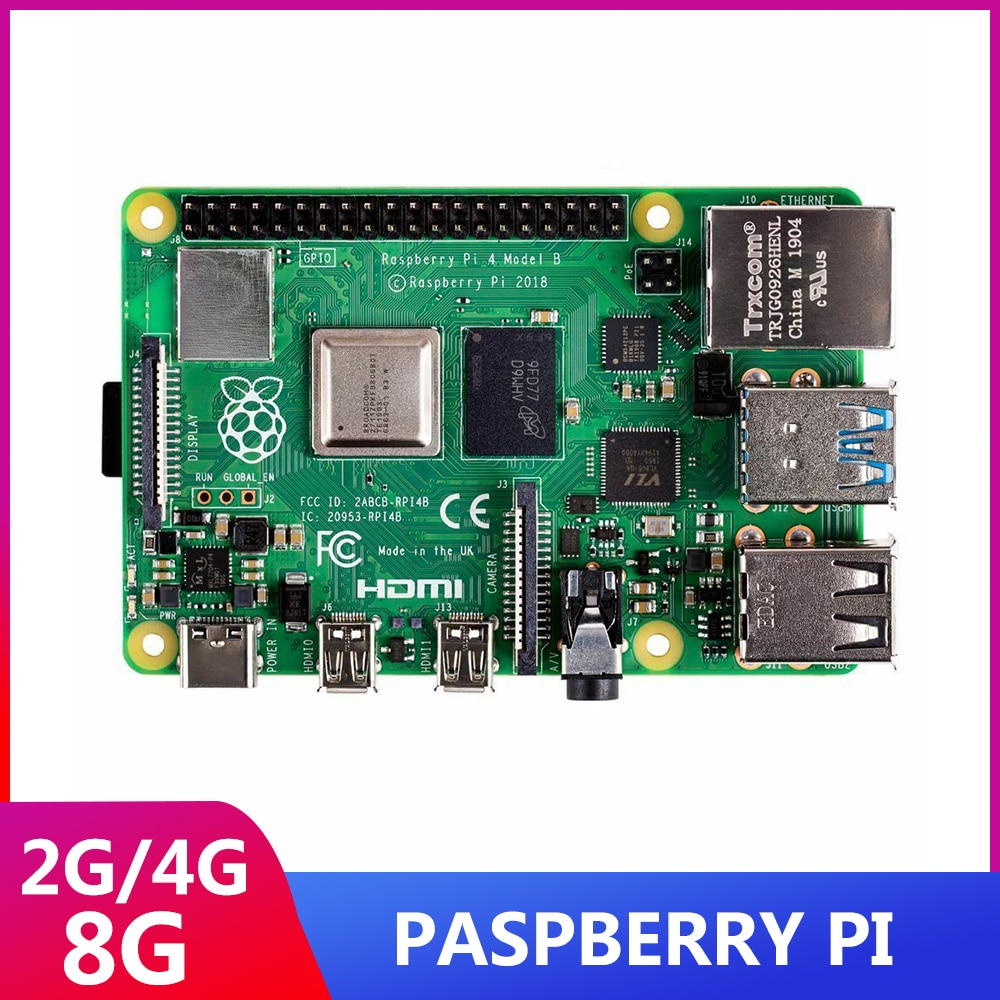 ITINIT R51 компьютеры Raspberry Pi 4B 2/4/8GB Оперативная память компьютеры Raspberry pi 4 BCM2711 Quad core Cortex-A72 ARM компьютеры raspberry Pi 4 2 ГБ/4 ГБ/8 ГБ Оперативная память