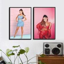 Ariana Grande Pop Music Star Singer Beauty Art Painting Vintage Canvas Poster Wall Home Decor Artwork