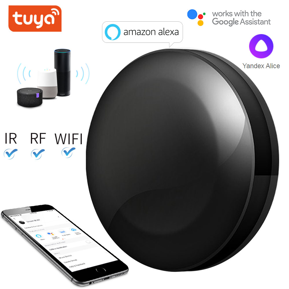 wl irc wifi universal remote control smart remote house control voice smart remote intelligent control TUYA WIFI+IR+RF Universal Smart Remote Voice Control Alexa Google HOME Smart Home Smart Home Automation Support DOOYA