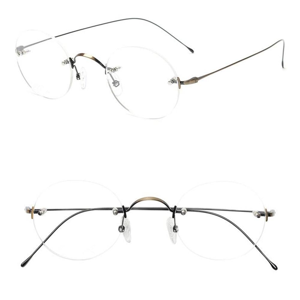 التيتانيوم الخالص الفاخرة بدون شفة للجنسين ستيف جوبز نظارات للقراءة + 25 + 50 + 75 + 100 + 125 + 150 + 175 + 225 + 250 + 350 + 400 + 425 + 450