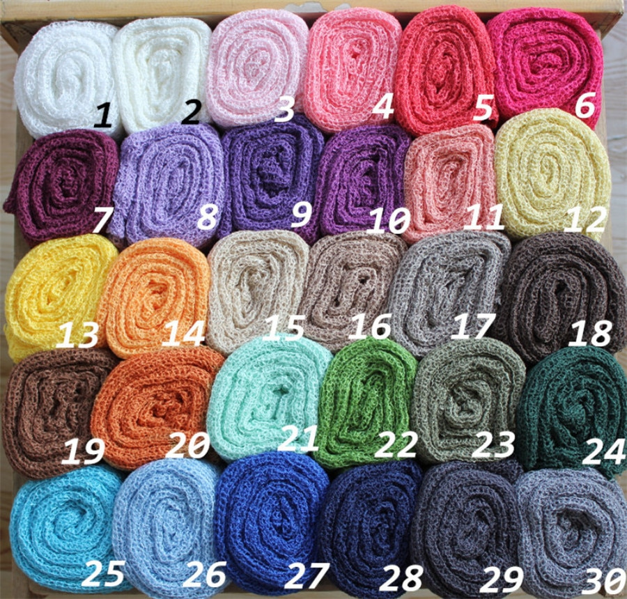 (10 peças/lote) rayon bebê envolve recém-nascido estiramento malha envolve recém-nascidos swaddlings nubble envolve 30 cores disponíveis