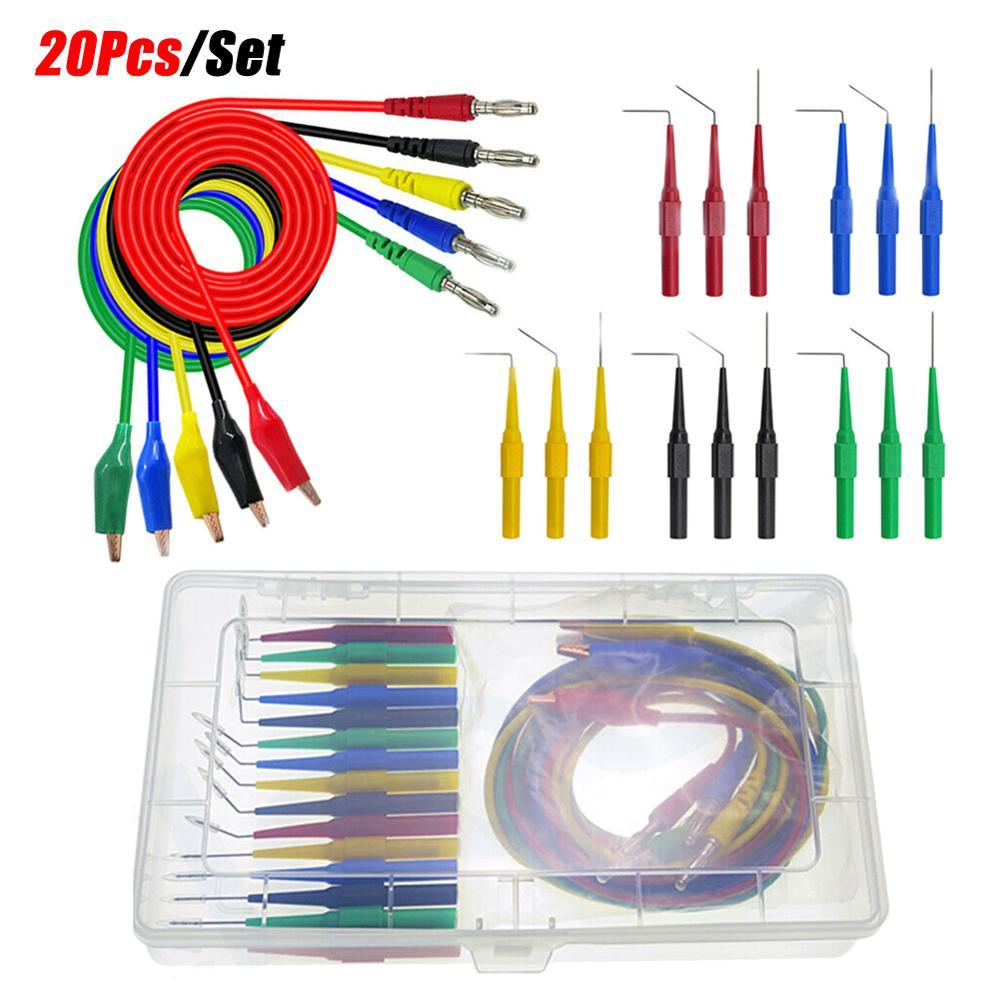 20 sondas de prueba SG, herramienta de prueba, SONDA DE PLOMO Aid 23500, Kit de sonda trasera, sonda identificada para avaressiones de automóviles