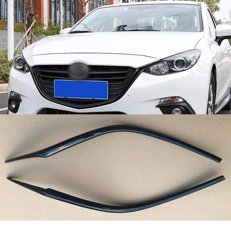 CEYUSOT For Mazda 3 Car Grille Trim Strip 2014 15 16 FRONT Bumper Full Star RACING Grills Cover Trim