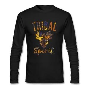 Street Fashion Tribal Chic T Shirt O-neck Cotton Custom Long Sleeve Men's Shirt Fashion Rashguard T Shirts For Boys Clothing