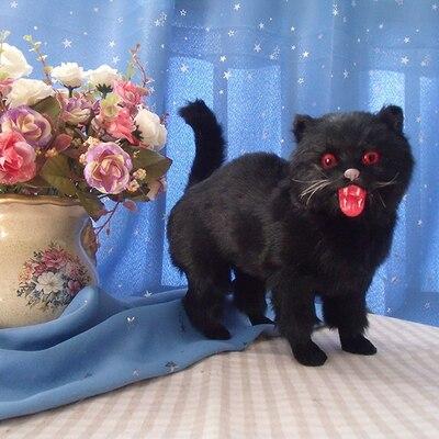Имитация кошки Хэллоуин Черный кот украшение Смешные шуточные украшения торговый центр украшения фотографии демонстрационный зал реквизи...