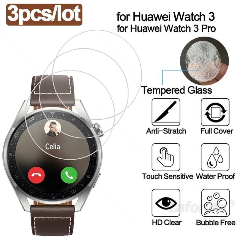 Protecteur d'écran 9H, 3 pièces, film en verre trempé pour Huawei Watch 3 Pro, Honor Watch Magic 2, 46mm