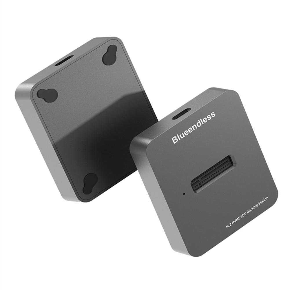 Blueeless-SSD m.2 قرص صلب مزدوج ، حاوية usb 3.1 PCIe NVME/NGFF مع مفتاح M/B & M ، SSD