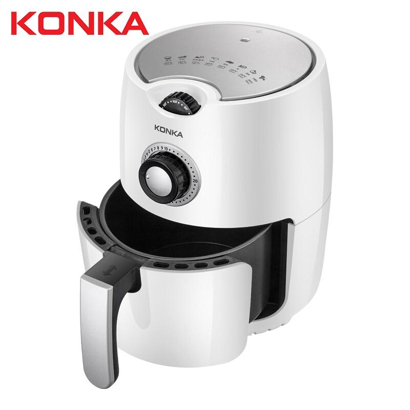 KONKA 2.5L multifunción aire freidora pollo libre de aceite aire freidora salud freidora horno para Pizza Smart Touch LCD eléctrica profundo Airfryer