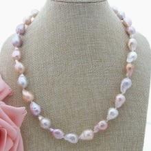 N061506 20 15mm multicolore Keshi collier de perles CZ fermoir