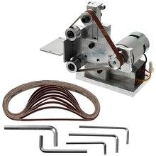 GTBL meuleuse multifonctionnelle Mini ponceuse à bande électrique bricolage polissage rectifieuse coupe bords affûteuse ceinture meuleuse Sandin