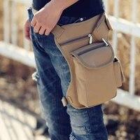 cycling canvas waist bag outdoor tactical multi function leg bag mens bag leisure sports waist bag fishing tackle bag