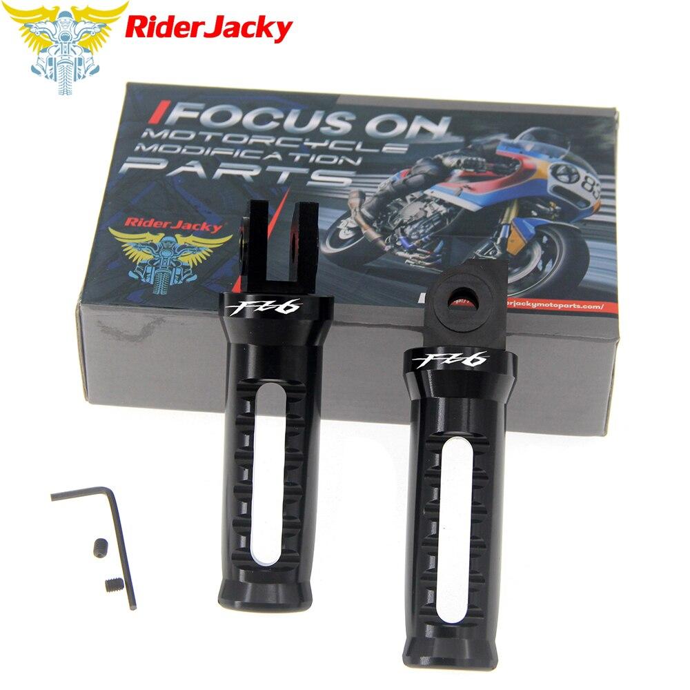 RiderJacky-repose-pieds pieds pédale   Pour YAMAHA FZ6 FZ 600 2004-2009 2005 2006 2007 2008, repose-pieds avant de moto
