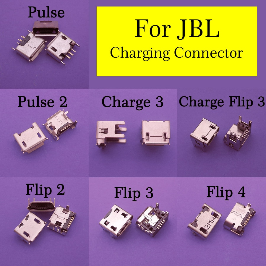10pcs for JBL Charge 3 Flip 4 3 2 Pulse 2 5 flip4 Clip2 Bluetooth Speaker female 5pin Micro USB Jack Charging Connector socket