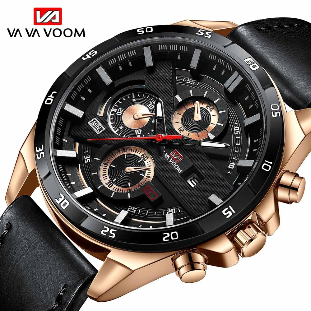 2021Top Luxury Men's Watch leather Business Date Clock Waterproof Watches Mens Luxury Sport Quartz Wrist Watch for Men's Gift yelang v1021 aviator serier t100 tritium tubes flourescent numbers 100m waterproof leather strap mens quartz wrist watch