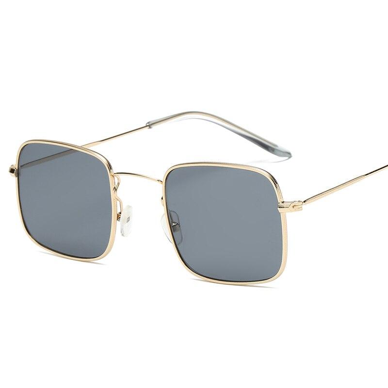 Золотые металлические прямоугольные очки, сексуальные тренды, женские солнцезащитные очки, классические дизайнерские очки для взрослых