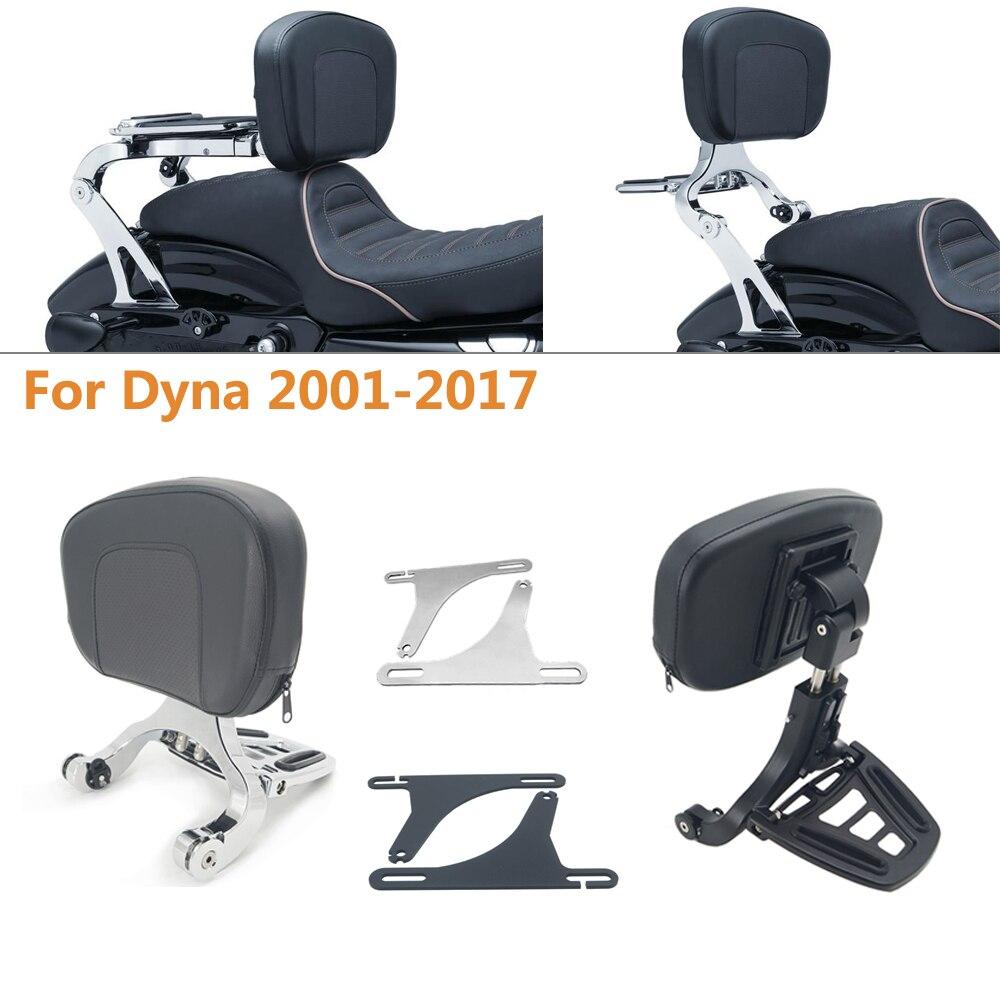 Motocicleta multi-purpose motorista passageiro encosto dobrável bagageiro para harley modelo dyna 2001 - 2017