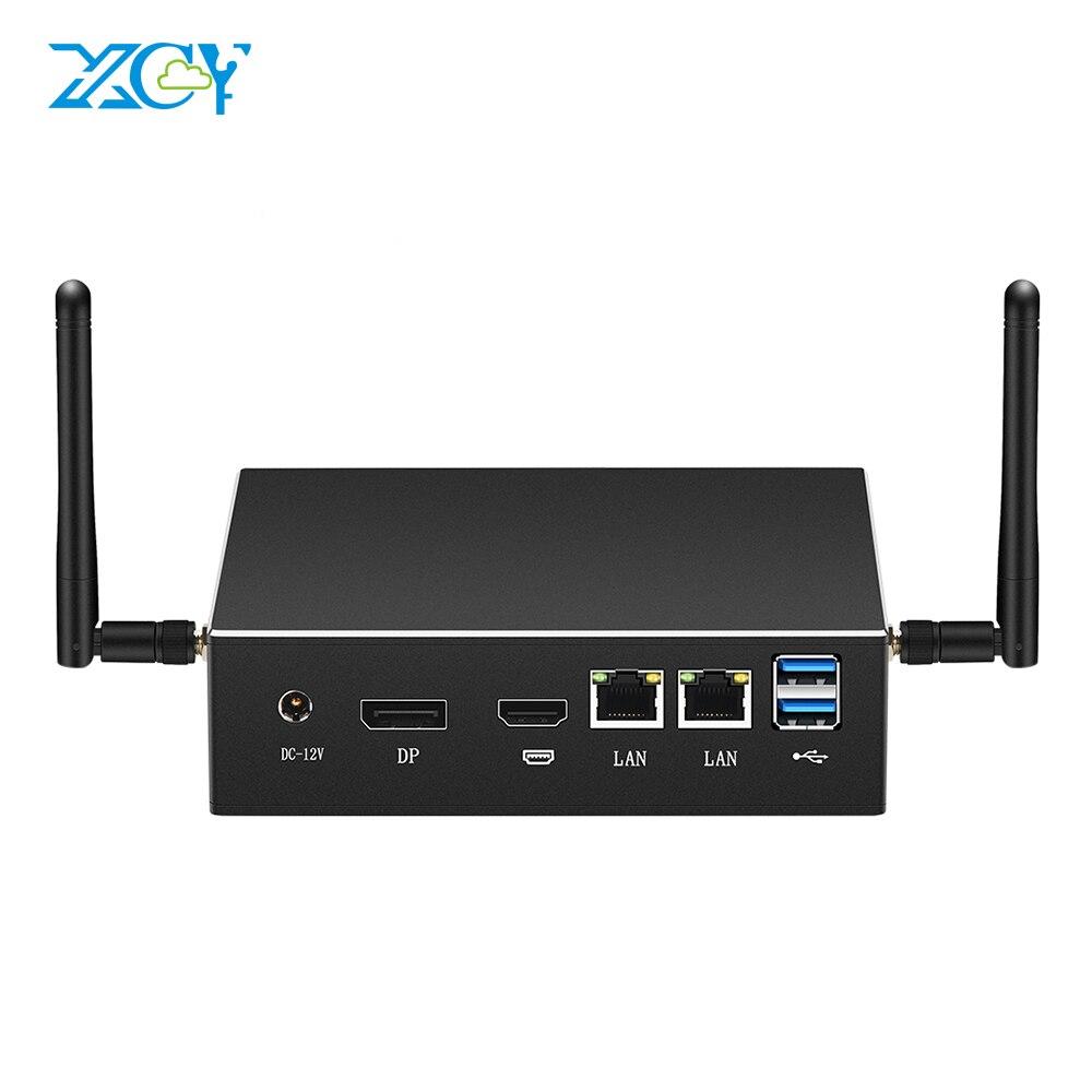 XCY Mini Pc Intel Core i7 10510U i5 i3 Linux Thin Client Micro Desktop Computers Best Industrial Win 10 Minipc Dual Lan Port 4K