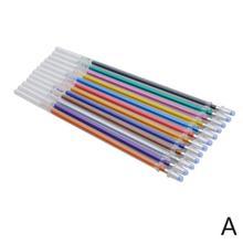 12 Colors Set Refills Markers Watercolor Gel Pen Replace Pen Office School Supplies Ballpoint Refill P5B2