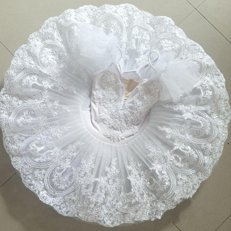 Blanco perla adulto profesional Ballet tutú actuación Dancewear niños niñas Ballet vestido bailarina fiesta Halloween disfraz