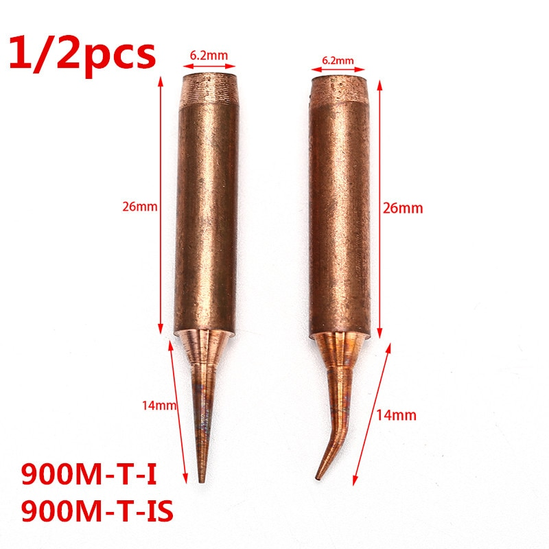 10pcs lead free 900m t i soldering iron tips for hakko 907 933 852d 936 soldering station electric replaceable welding heads 1/2pcs 900M T Series Pure Copper Soldering Iron Tip Lead-free Welding Sting For Hakko 936 FX-888D 852D Soldering Iron Station