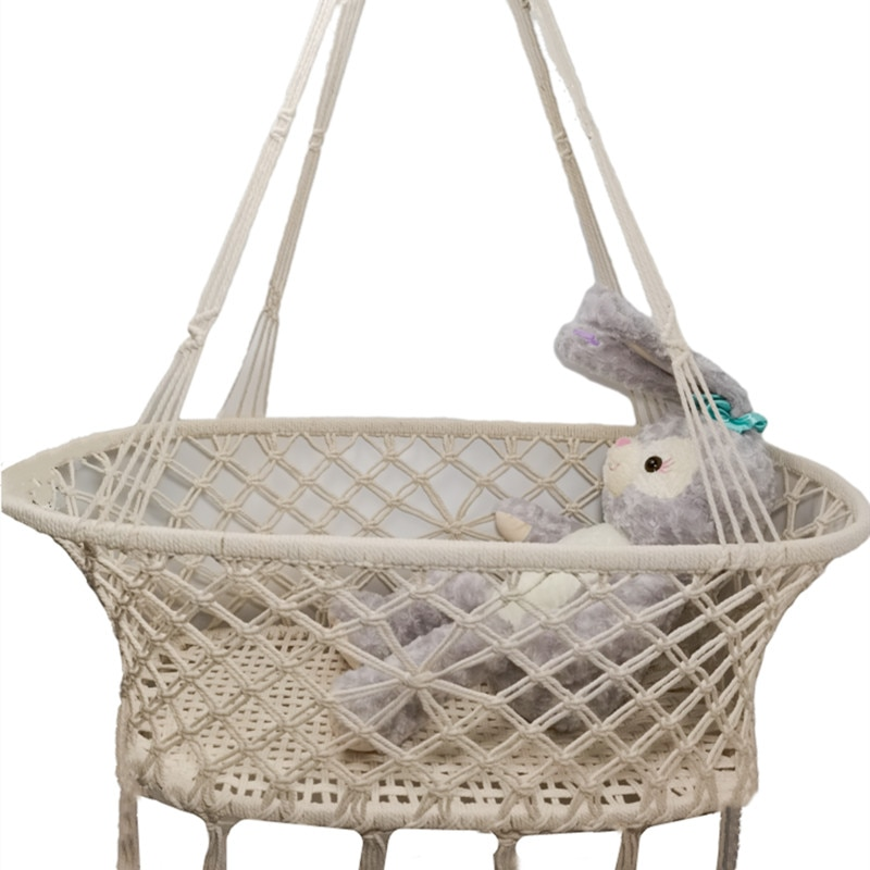 Hand-Woven Mesh Baby Cradle Swing Hammock Equipped With Swing Fixing Accessories