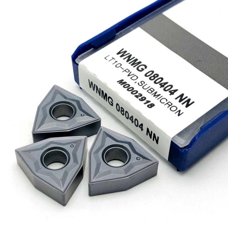 WNMG080404 NN LT10 карбидные вставки для внешней токарной обработки инструменты токарные инструменты режущие инструменты токарные инструменты WNMG ...