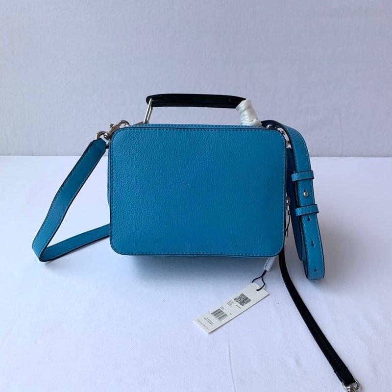 المرأة حقيبة كتف مادة الجلد الأصلي سيدة حقائب كروسبودي للنساء حقيبة صندوق وجبة الموضة
