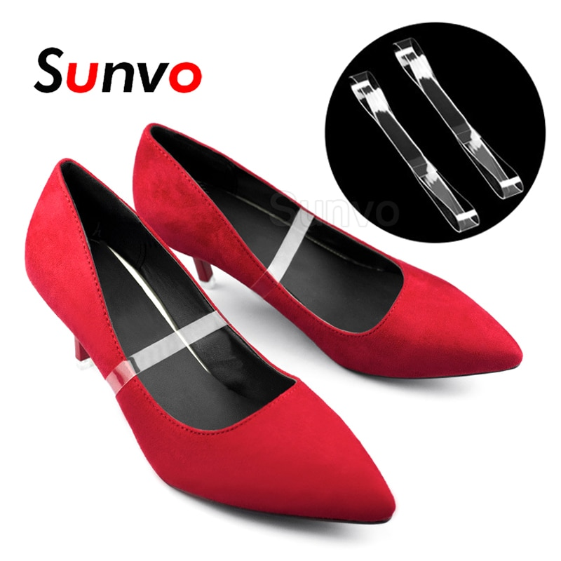 AliExpress - 2pcs Women Shoelaces High Heels Elastic Silicone Transparent Shoelace Straps Holding Loose Ankle Band Lace Anti-skid Shoes Acces