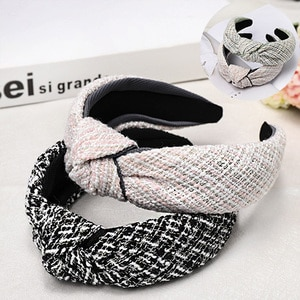 Headband Knot  Hairband  Ladies  Tie  Hoop  Headwear Accessories  Wide  Hair Band For Women Hair Accessories