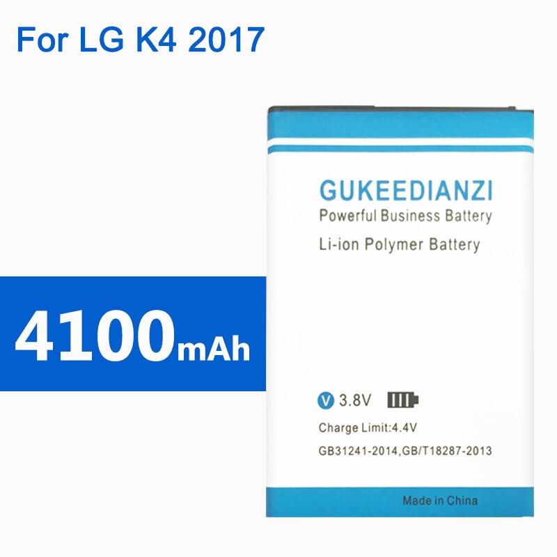 Gukeedianzi 4100 mah BL-45F1F bateria do telefone para lg k4 2017 m160 aristo ms210 2017 versão k8 k4 substituição bateria recarregável