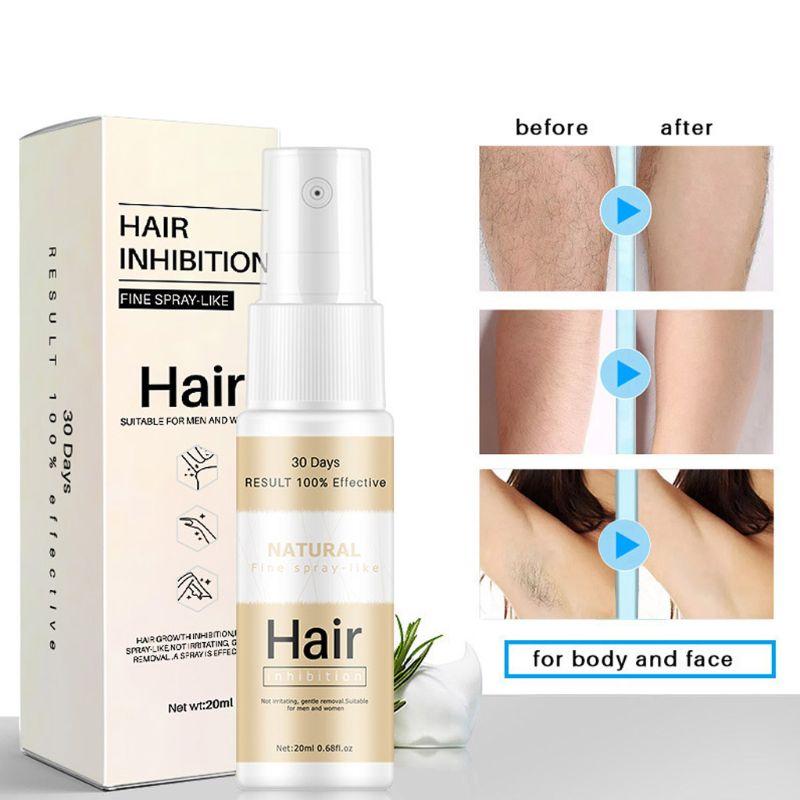 20ml, inhibidor del crecimiento del cabello, ingredientes naturales en Spray, eliminación del cabello, esencia hidratante para la piel, nutrición para todo el cuerpo