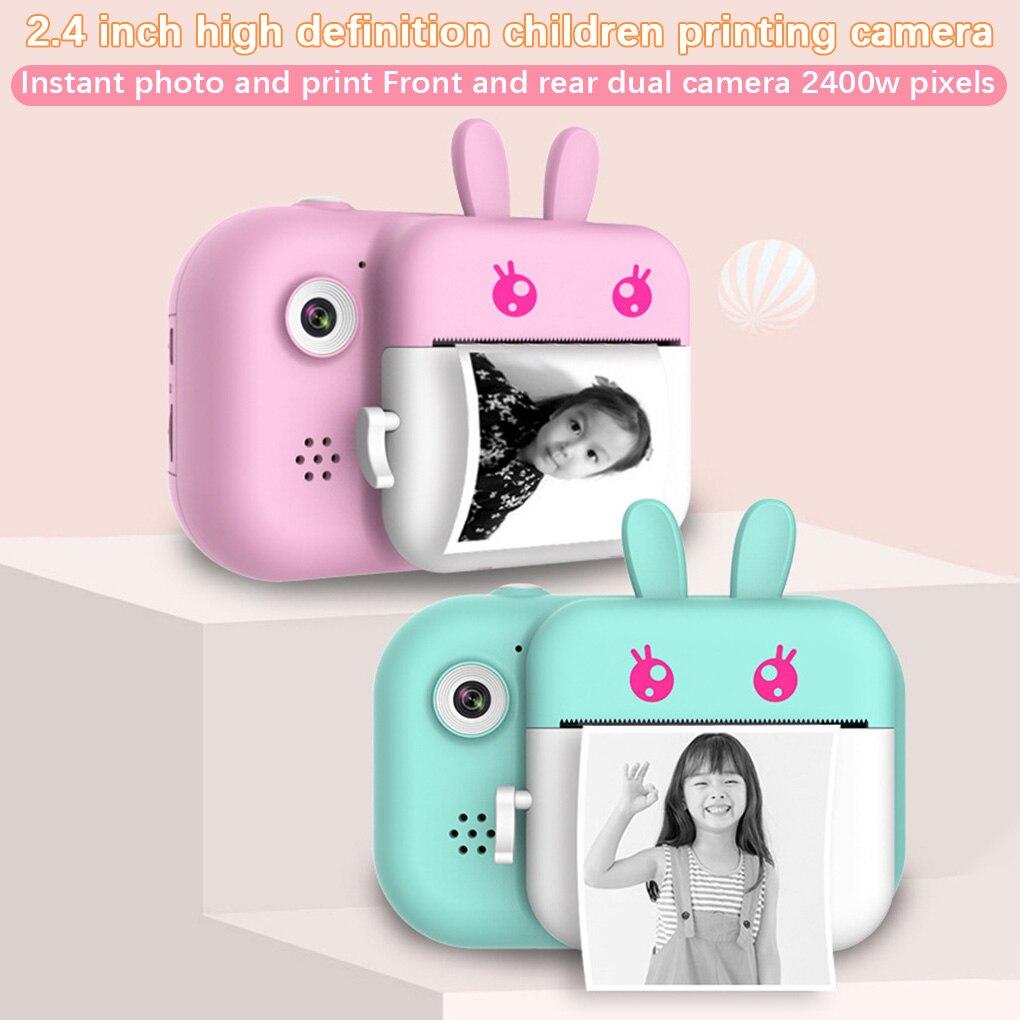Cámara de impresión instantánea para niños, cámara HD de 1080P con papel fotográfico térmico, juguetes, cámara para regalos de cumpleaños